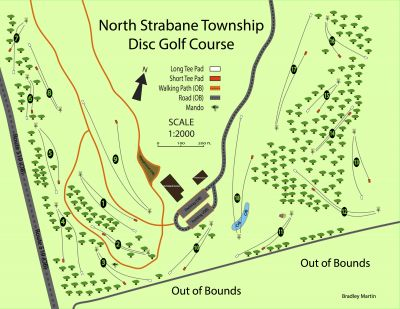 North Strabane Township DGC, Main course, Hole 2 Tee pad