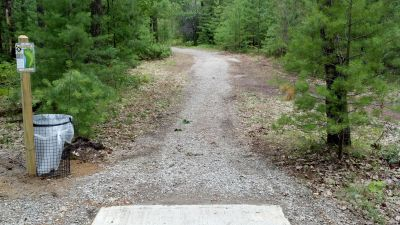 Clear Lake State Park, The Memory Clear Lake DGC, Hole 5 Tee pad