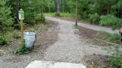 Clear Lake State Park, The Memory Clear Lake DGC, Hole 6 Tee pad