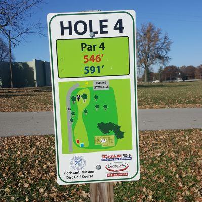 Dunegant Park, Main course, Hole 4 Hole sign