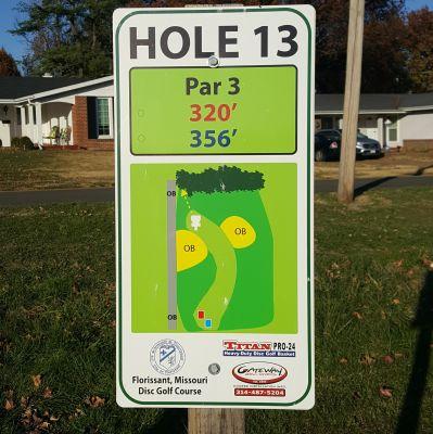 Dunegant Park, Main course, Hole 13 Hole sign