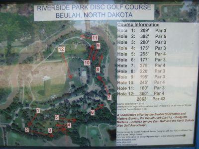 Riverside Park, Main course, Hole 1 Hole sign