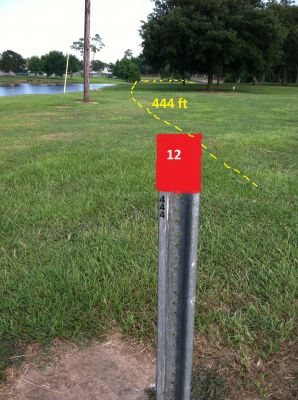 Hiller Park, Main course, Hole 12 Middle tee pad