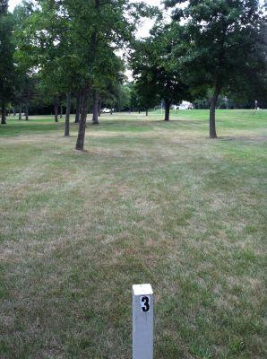 Baughman-Belatti Park, Main course, Hole 3 Tee pad