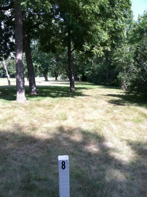 Baughman-Belatti Park, Main course, Hole 8 Tee pad
