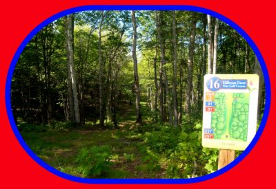Hillcrest Farm, Main course, Hole 16 Hole sign