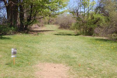 University of Massachusetts - Amherst, Orchard Hill Disc Golf, Hole 4 Tee pad
