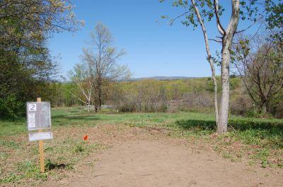 University of Massachusetts - Amherst, Orchard Hill Disc Golf, Hole 2 Tee pad