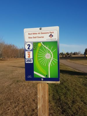 Bud Miller Park, Main course, Hole 2 Hole sign