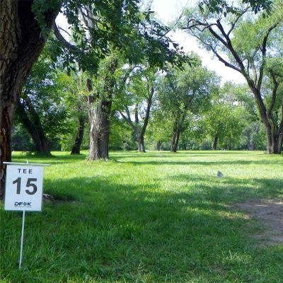 Fairmont Park, Main course, Hole 15 Tee pad