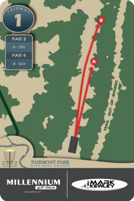 Fairmont Park, Main course, Hole 1 Hole sign