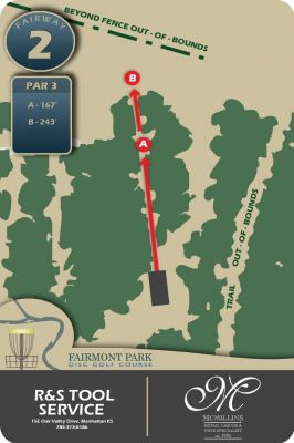 Fairmont Park, Main course, Hole 2 Hole sign