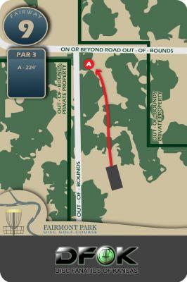 Fairmont Park, Main course, Hole 9 Hole sign