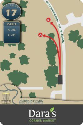Fairmont Park, Main course, Hole 17 Hole sign