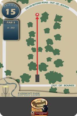 Fairmont Park, Main course, Hole 15 Hole sign