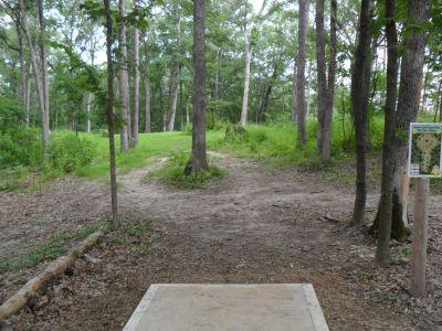 Indian Camp Creek Park, Main course, Hole 7 Tee pad