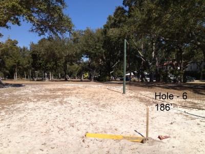 Orange Beach DGC, Main course, Hole 6 Tee pad