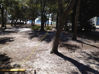Orange Beach DGC, Main course, Hole 1 Tee pad