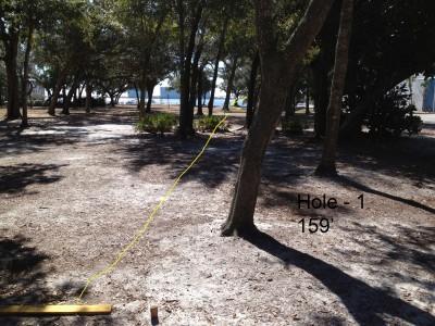 Orange Beach DGC, Main course, Hole 1 Tee pad
