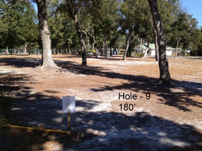 Orange Beach DGC, Main course, Hole 9 Tee pad