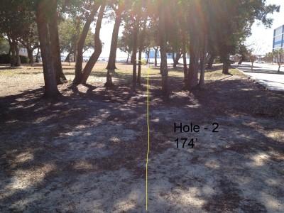 Orange Beach DGC, Main course, Hole 2 Tee pad