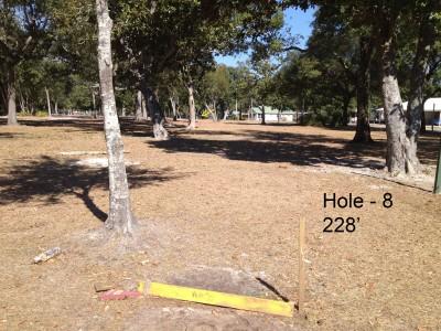 Orange Beach DGC, Main course, Hole 8 Tee pad