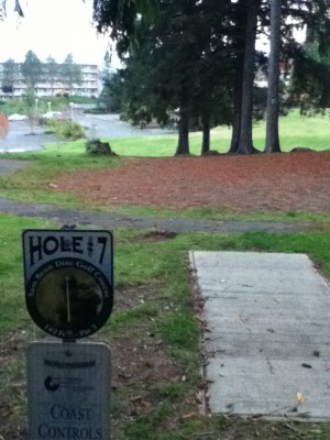 Sam Benn Memorial Park, Main course, Hole 7 Tee pad