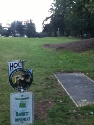 Sam Benn Memorial Park, Main course, Hole 8 Tee pad