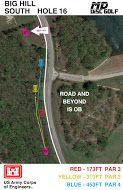 Big Hill Lake, Big Hill Temp Course, Hole 16 Hole sign