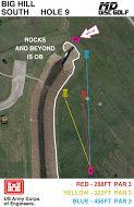 Big Hill Lake, Big Hill Temp Course, Hole 9 Hole sign