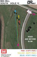 Big Hill Lake, Big Hill Temp Course, Hole 12 Hole sign