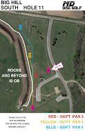 Big Hill Lake, Big Hill Temp Course, Hole 11 Hole sign