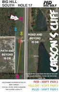 Big Hill Lake, Big Hill Temp Course, Hole 17 Hole sign