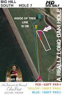Big Hill Lake, Big Hill Temp Course, Hole 7 Hole sign