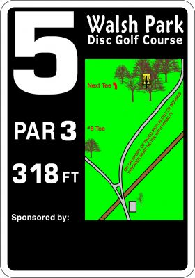 Walsh Park, Main course, Hole 5 Hole sign