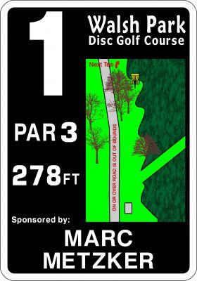 Walsh Park, Main course, Hole 1 Hole sign