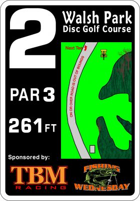 Walsh Park, Main course, Hole 2 Hole sign