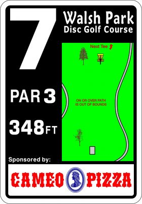 Walsh Park, Main course, Hole 7 Hole sign