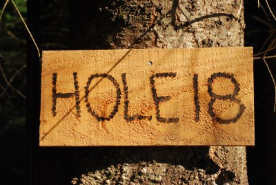 Buxton Woods, Main course, Hole 18 Hole sign
