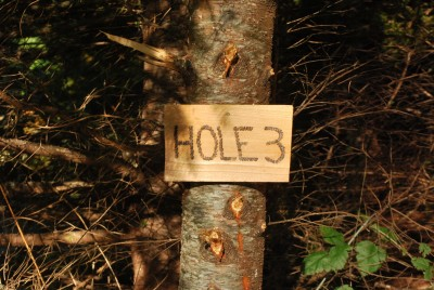 Buxton Woods, Main course, Hole 3 Hole sign