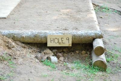 Buxton Woods, Main course, Hole 9 Hole sign
