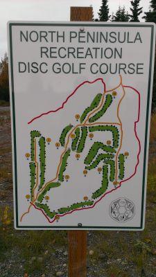 North Peninsula Recreation Service Area, Main course, Hole 1 Hole sign
