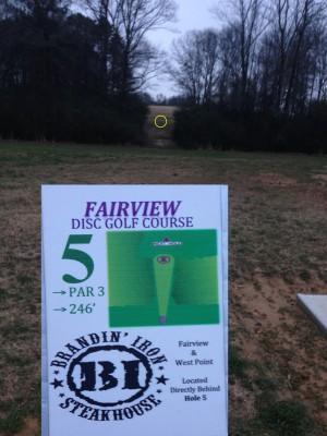 Fairview Park, Main course, Hole 5 Tee pad