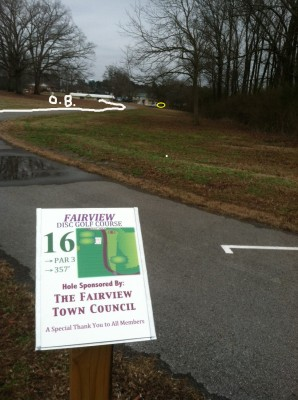 Fairview Park, Main course, Hole 16 Tee pad