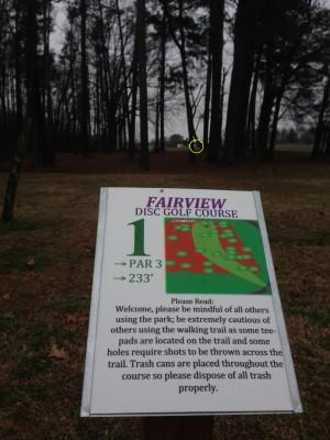 Fairview Park, Main course, Hole 1 Tee pad