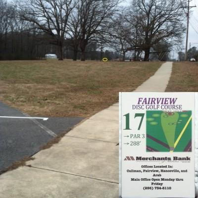 Fairview Park, Main course, Hole 17 Tee pad