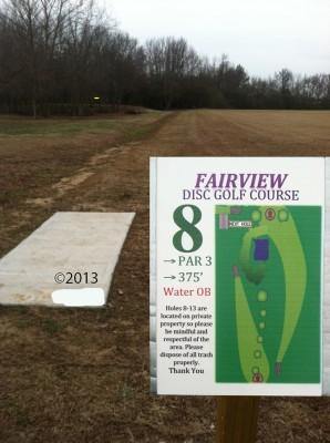 Fairview Park, Main course, Hole 8 Tee pad