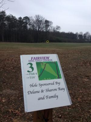 Fairview Park, Main course, Hole 3 Tee pad