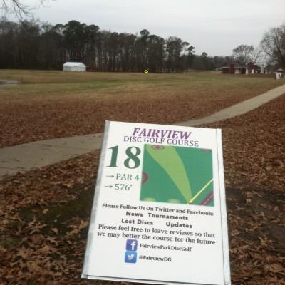 Fairview Park, Main course, Hole 18 Tee pad