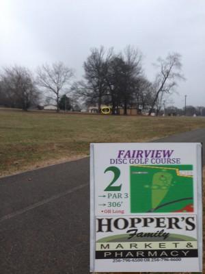 Fairview Park, Main course, Hole 2 Tee pad